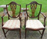 Set of Six Mahogany Shield Back Dining Chairs
